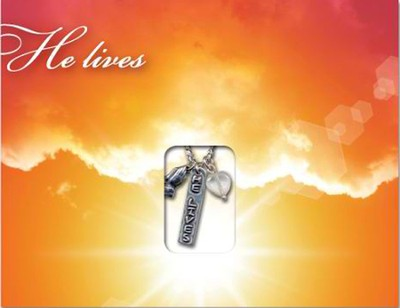 He Lives, Pendant, Mailable Card  -