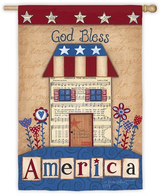 God Bless America, Large Flag  -