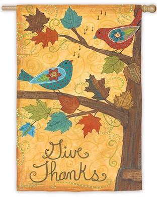 Give Thanks, Large Flag  -     By: Annie LaPoint