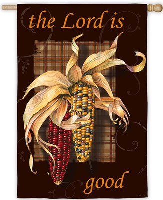 The Lord Is Good, Large Art Flag  -     By: Sandy Clough