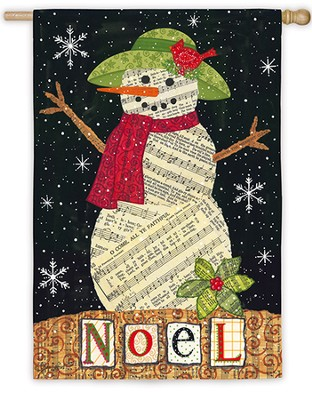 Noel Snowman, Large Flag  -     By: Annie LaPoint