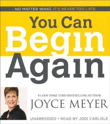 You Can Begin Again, Audiobook CD, Unabridged  -     Narrated By: Jodi Carlisle     By: Joyce Meyer