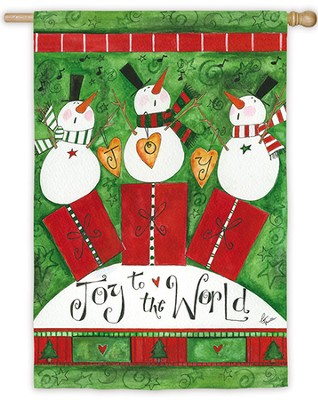 Joy To The World, Snowmen, Large Flag   -     By: Pat Yuille
