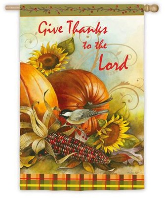 Give Thanks To The Lord, Large Flag   -     By: Sandy Clough