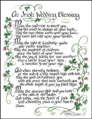 An Irish Wedding Blessing Plaque  -     By: Lori Voskuil-Dutter