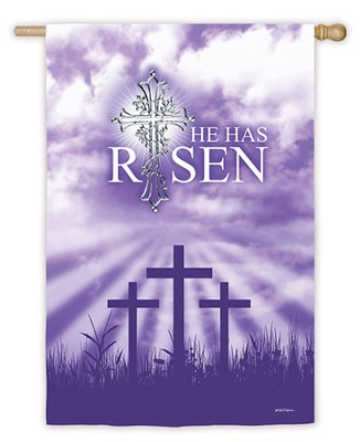 He Has Risen Large Flag  -