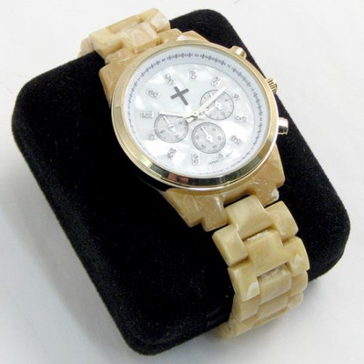 Chronograph Style Watch with Horn Band  -
