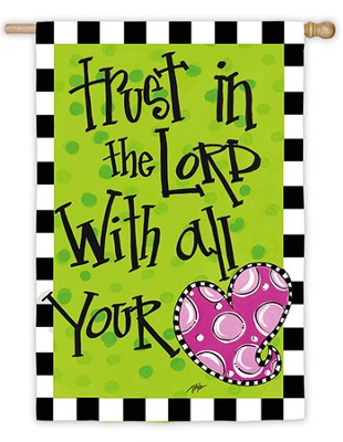 Trust In The Lord, Large Flag  -
