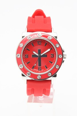 Silicone Band Watch, Red  -