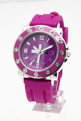 Silicone Band Watch, Purple  -