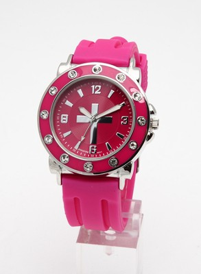 Silicone Band Watch, Pink  -
