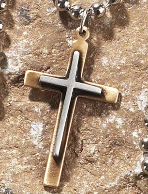 Box Cross Pendant  -