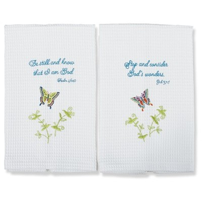 Butterfly Kitchen Towel Set   -