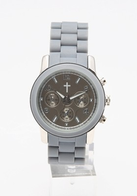 Chronograph Style Watch, Gray and Silver  -