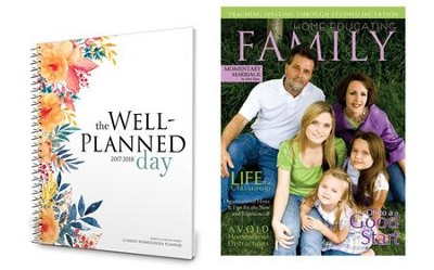 The Well-Planned Day Homeschool Planner (July 2014 - June  2015) with a 1 Year USA Subscription to Home Educating  Family Magazine  -