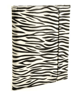 iPad Cover with Organizer, Zebra  -
