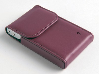 Flip Business Card Holder with Cross, Red  -