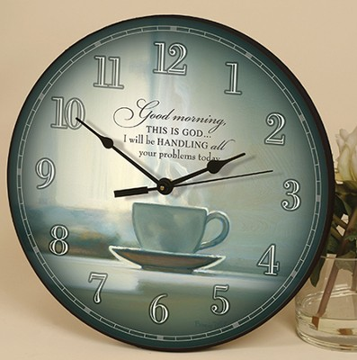 Good Morning, This Is God, Wall Clock   -     By: Bonnie Mohr