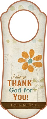I Always Thank God for You! Door Hanger   -