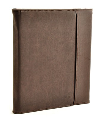 Trifold IPad Cover with Cross, Vintage Brown  -