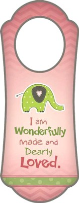 Wonderfully Made, Pink Door Hanger   -