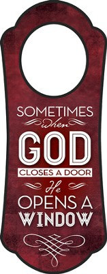 When God Closes A Door, Door Hanger   -
