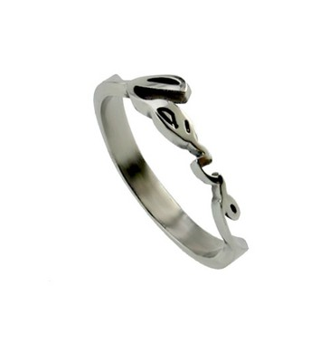 Handwriting Love Ring, Size 9  -