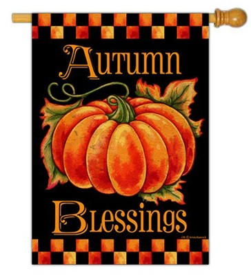 Autumn Blessings Flag, Large  -     By: Krista Hamrick
