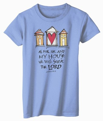 As For Me and My House Shirt, Blue, Large  -