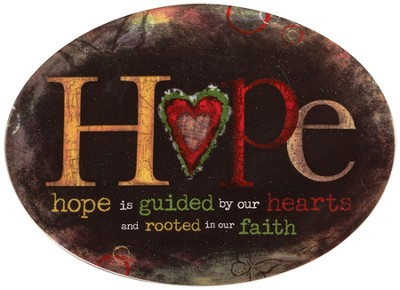 Hope Is Guided, Mini Plate  -     By: Robin Davis