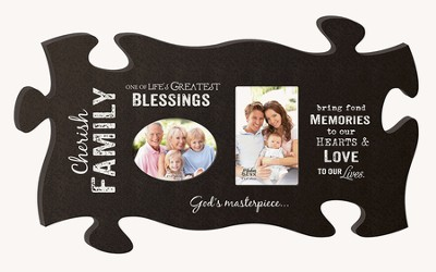 Cherish Family, Puzzle Photo Frame  -