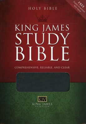 KJV Study Bible Bonded leather, black - Slightly Imperfect  -