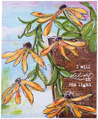 I Will Delight In His Light Wall Art  -     By: Junelle Jacobson