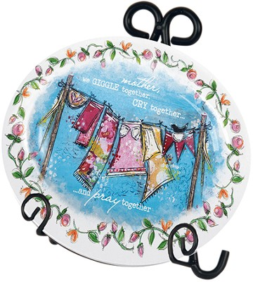 Mother Mini Plate with Easel  -     By: Junelle Jacobson