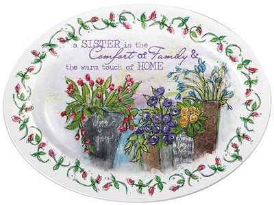 Sister Mini Plate with Easel  -     By: Junelle Jacobson