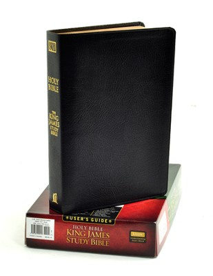 KJV Study Bible, Genuine leather, black   -     By: Bible