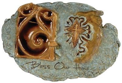 Bless Our Home Large Modern Art Plaque  -     By: Carrie Wainwright