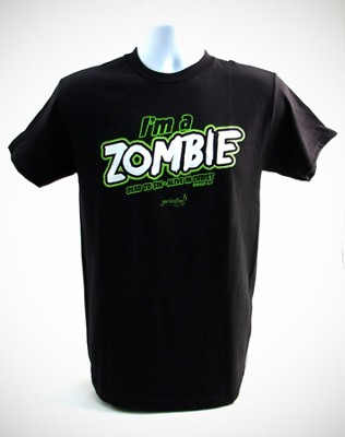 I'm A Zombie Shirt, Black, Small  -