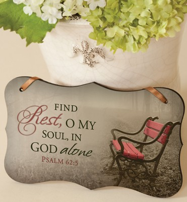 Find Rest Mounted Print Plaque  -