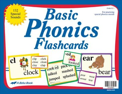 Basic Phonics Flashcards (Grades 1-3; 132 cards)   -