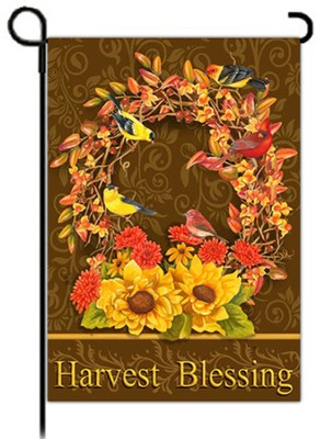 Harvest Blessings Flag, Small  -     By: MaryLou Troutman