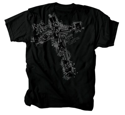 Music Cross Shirt, Black, XX Large  -