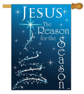 Jesus is the Reason for the Season Flag, Large  -