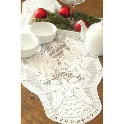 Glorious Angel Table Runner, White, Large  -