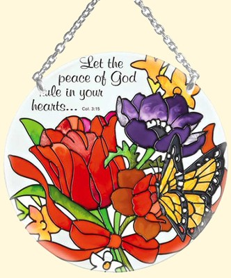 Let the Peace of God Rule in Your Heart Suncatcher   -