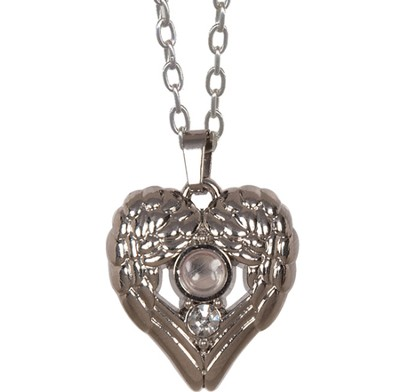Wing, Heart Magnifier Necklace  -