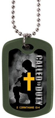 Called to Duty--Dog Tag Necklace  -
