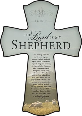 The Lord Is My Shepherd Cross, Small  -