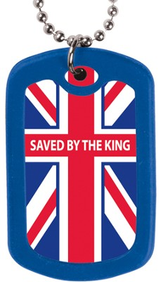 Saved by the King--Dog Tag Necklace   -
