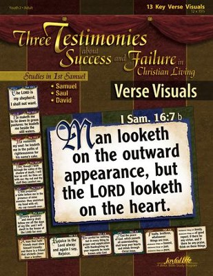 Samuel, Saul, David: Three Testimonies About Success and Failure; Youth 2 to Adult, Key Verse Visuals  -